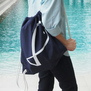 Por.Pra Canvas Drawstring Backpack (