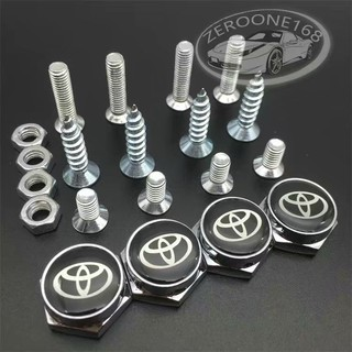 Review TOYOTA Separate Chrome Anti-theft Car License Plate Frame Bolt Screws RAV 4*Pcs