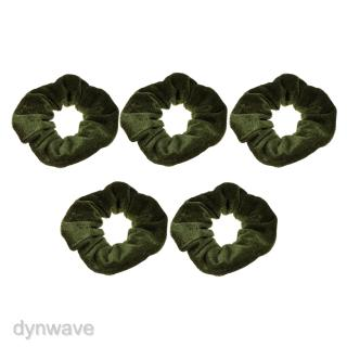 Review Lovoski 5/pack Elastic Velvet Hair Scrunchies Hair Band Ties