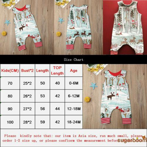 Image # 7 of Review SgmNewborn Baby Girl Boy Christmas Costume Santa Romper Jumpsuit Bodysuits Clothes Xmas Outfits