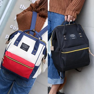 FASTYLE SHOP กระเป๋า กระเป๋าเป้ กระเป๋าสะพายหลังสีกรม Woman Backpack NO.