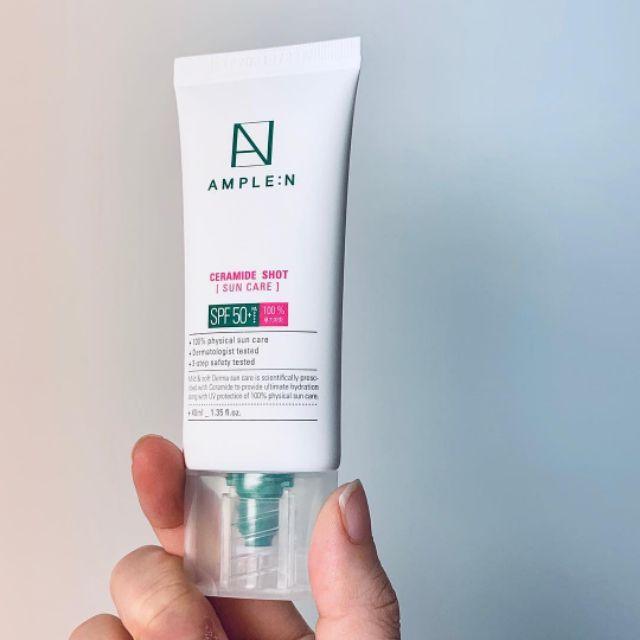 �ล�าร���หารู��า�สำหรั� COREANA Ample:N Ceramide-shot Barrier Sun care SPF 50+ PA++++ 40 ml.