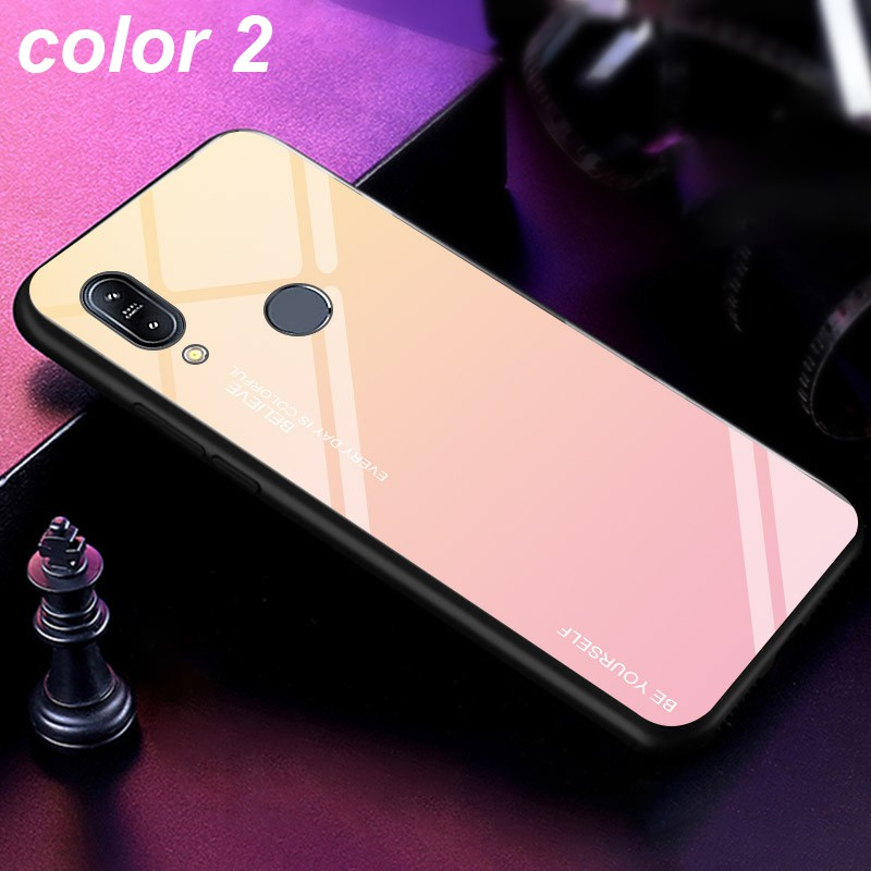 Image # 2 of Review ASUS Zenfone Max Pro M1 M2 ZB601KL ZB602KL ZB631KL ZB633KL Fashion Design Mixed Color Glass Back Cover Case