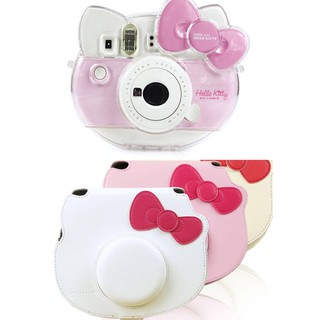 Fujifilm Instax Mini Hello Kitty Transparent Crystal Shell Case Leather Carrying Bag