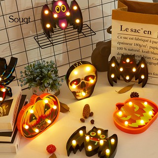 Review SQ Halloween Spider/Bat/Skull/Pumpkin LED Night Light Bar Home Party Decoration