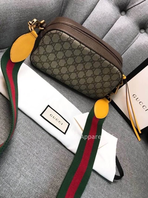 Image # 2 of Review Gucci GG Supreme Crossbody Bag With Strap