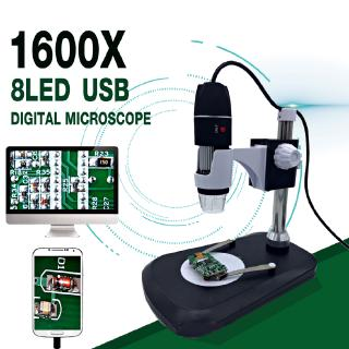 The best 1600X 8 LED Zoom USB Digital Microscope Magnifier Endoscope Camera +Video Stand