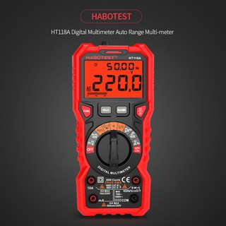 Review HABOTEST HT118A Digital Multimeter Auto Range Multi-meter 6000 Counts True RMS Measuring AC/DC Voltage Current