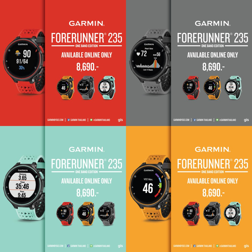 Image # 0 of Review GARMIN FORERUNNER 235 FROST BLUE/GRAY/LAVA RED/SOLAR