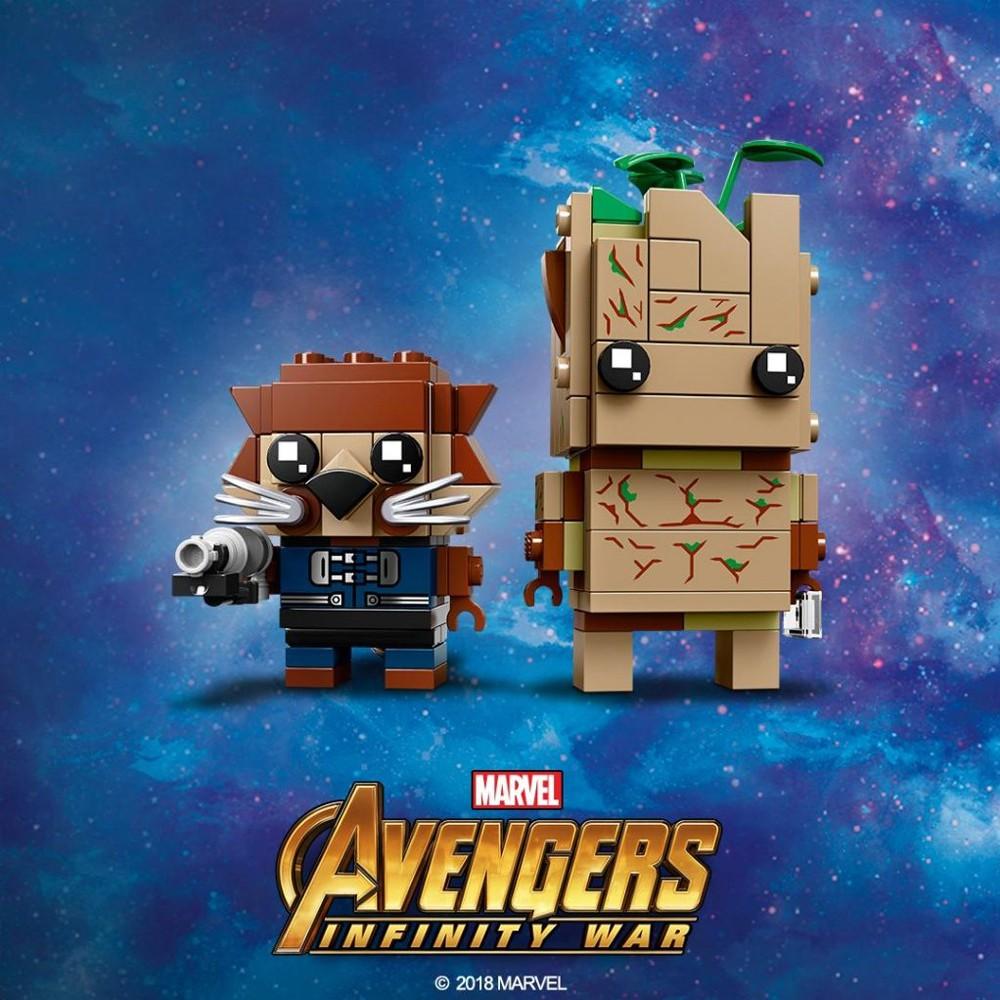 Speelgoed en spellen Infinity War Endgame Complete sets LEGO BrickHeadz Rocket 69 and Groot 68 41626 Avengers