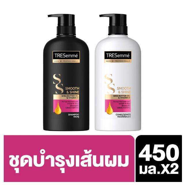 TRESemmé Shampoo 450 ml + Hair Conditioner 450 ml Smooth & Shine Pink UNILEVER
