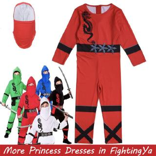 Ninjago Cosplay Costumes Boy Jumpsuits Sets Halloween Christmas Party Clothes Ninja Superhero Streetwear Suits
