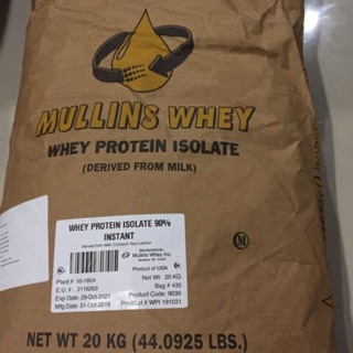 Review เวย์โปรตีนไอโซเลท whey protein isolate mullins whey
