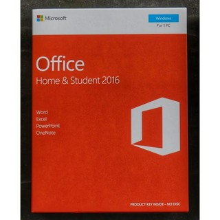 Microsoft Office Home & Student 2016 มีกล่อง 1 Windows FPP