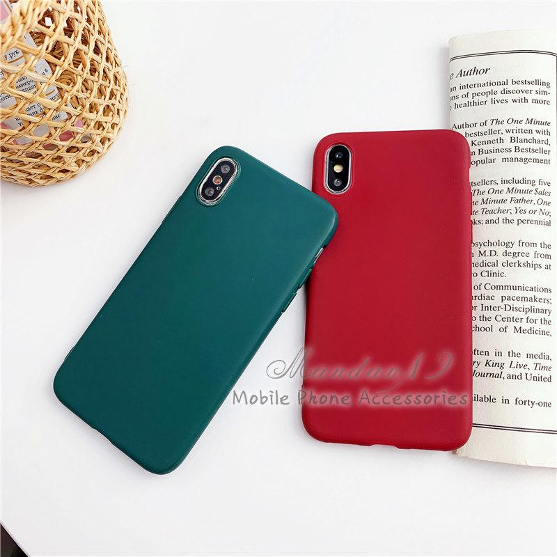 Image # 3 of Review กรณี Casing Xiaomi Redmi S2 Note 6 Pro Note 7 Mi A2 Lite Plain Rubber Matte Candy Soft Case