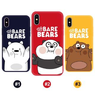 Review iPhone XS X XSMAX XR 6 6S 7 8 7Plus 11 11Pro 11promax cover we Bare bears TPU cover Soft case