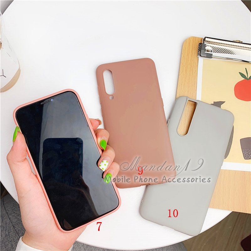 Image # 1 of Review กรณี Casing Xiaomi Redmi S2 Note 6 Pro Note 7 Mi A2 Lite Plain Rubber Matte Candy Soft Case