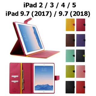 Review iPad 2 / 3 / 4 / 5 / 9.7 (2017) / (2018) - เคส ฝาพับ Mercury Fancy Leather Cover Case แท้