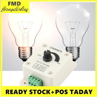 Review FMD⭐DC 12V 8A LED Light Protect Strip Dimmer Adjustable Brightness Controller ควบคุมความสว่างปรับหรี่ได้