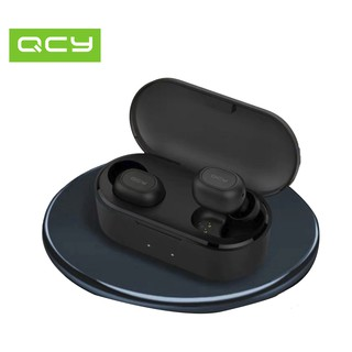 Review New QCY T2S Updated Version Support Wireless Charging Headphones Bluetooth V5.0 3D Stereo Sports Earphones with Dual Mic