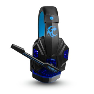 Tsunami Breathing Light Gaming HEADPHONE + MICROPHONE Blue GE-03L