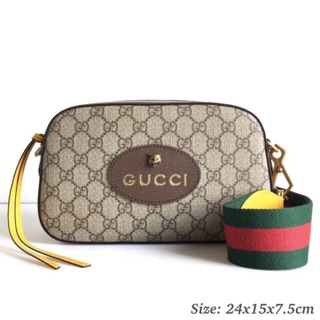 Review Gucci gg supreme crossbody ของแท้ 100%