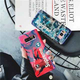 Review เคส Samsung Note 9 8 Note10 Note10+ S8 Plus S9 Plus S8+ S9+ S10 S10+ S10 Plus S10e Fashion Supreme Blue-Ray Soft Case