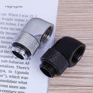 Review Highgos90 Degree Rotary G1/4 Inner Outer Dual Thread Water Tube Connector Adapter