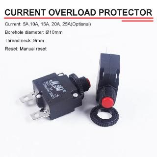 The best 5A-25A Automatic Circuit Breaker 250VAC/32VDC Resettable Fuse Overload Protector