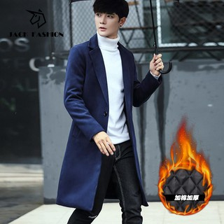 Review 【JACK FASHION】Ready stock Korean Fashion MenT winter men's long windbreaker jacket wool coat saleboys clothing men cloth