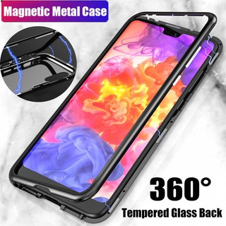 Review Huawei P20 Pro/ P20/ P20 Lite Metal Bumper + 9H Tempered Glass Hard Case