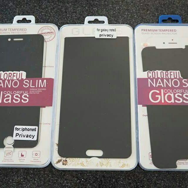 ฟิล์มกระจกกันเสือก กันมอง กันเผือก iphone /samsung