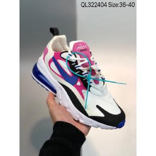 Max 270 pink purple Nike Air Max 270 React fashion style is very comfortable, breathable cushion cushioning, lightweight men's and women's running shoes, sneakers 36~40