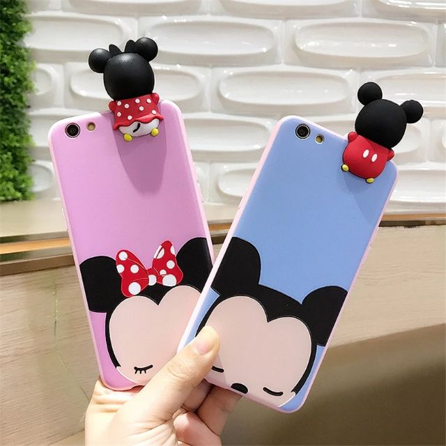 Image # 3 of Review เคส Huawei P9  P9plus P10plus iphone 6 6s 6plus 7plus vivo V5s ฝาหลังทีพียูการ์ตูนปีนจอ Mickey Minnie Mouse Donald Duck