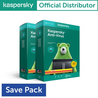 Kaspersky Anti-Virus 3Device 1Year ( 2กล่อง )