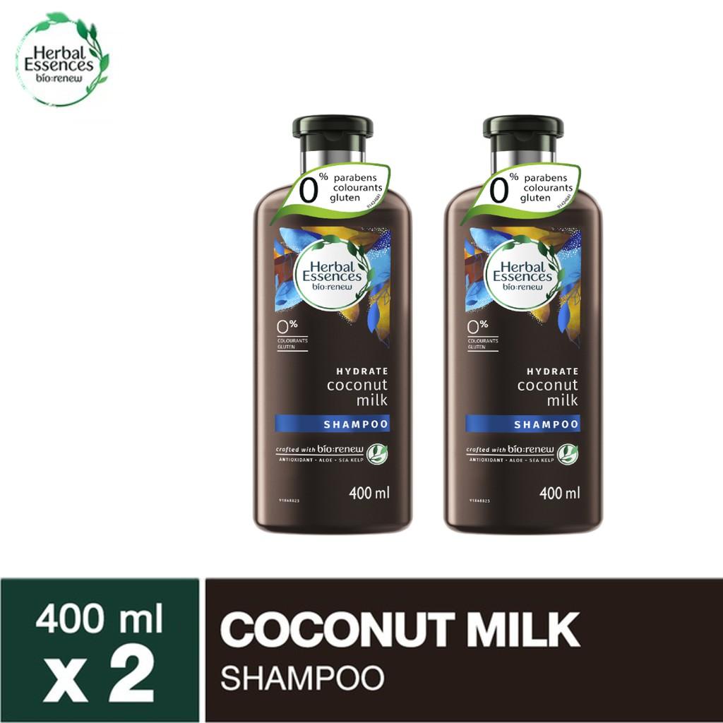 Herbal Essences shampoo เฮอร์บัลเอสเซนท์ แชมพู โคโคนัท 400 มล 2 ขวด P&G