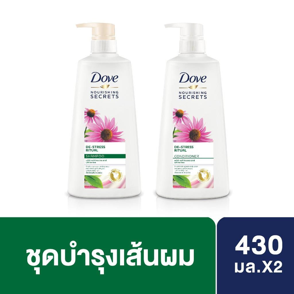 DOVE Shampoo & DOVE Conditioner Nourishing Secrets De-Stress Rituals Green 430ML UNILEVER