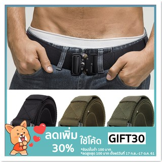 Review **โค้ด  GIFT30 ลด 30%** Army Belt Military Equipment Swat Quickly Unlock Combat Tactical Girdle Nylon