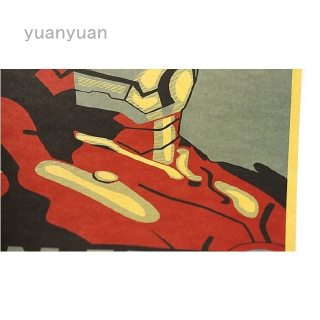 Iron Men Comic Avatar Poster Decorative Painting Core Kraft Paper Kraft Posters 51 * 35cm Posters