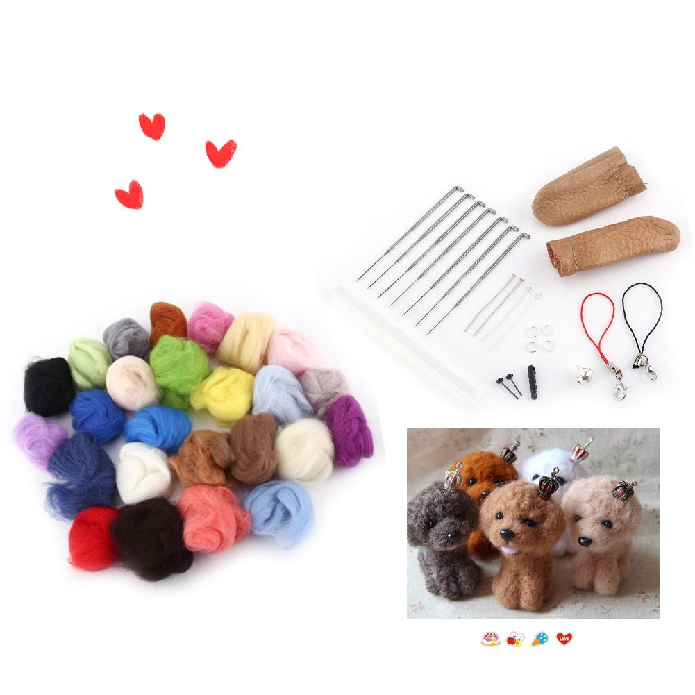 Review 25pcs Mixed Wool Fiber Needle Felting Needles Starter Tools