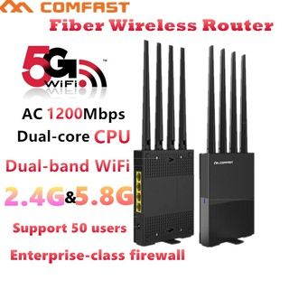 The best Comfast AC1200 Mbps 2.4G&5.8G เราเตอร์ Fiber Wireless Router WR617AC