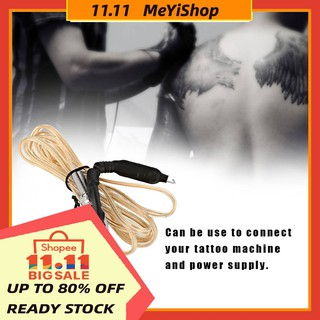 The best MEYISHOP Tattoo Supply Transparent Line Power Heavy Silicone for Duty Cord Machines Tattoo Clip Soft
