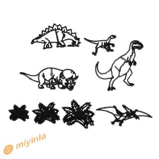mi~ 8pcs/Set Dinosaur Fondant Cake Mold for DIY Baking Cookies Mould