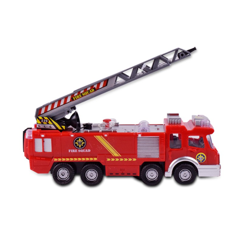 Orders over 400 ships to the universal fire truck children electric fire  truck toy can spray water Sam toy Juptahaya01