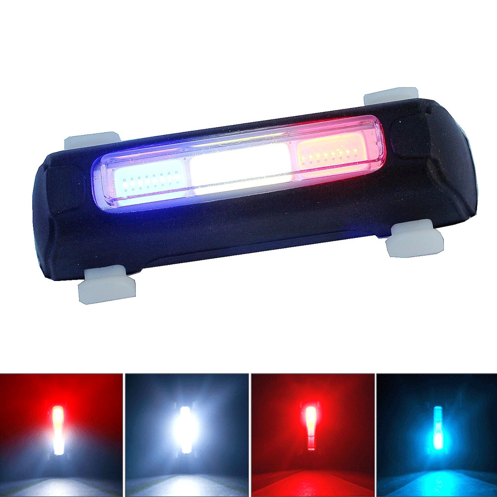 Cycling Bike Front Light USB Rechargeable Tail Clip Bright Waterproof Light Lamp