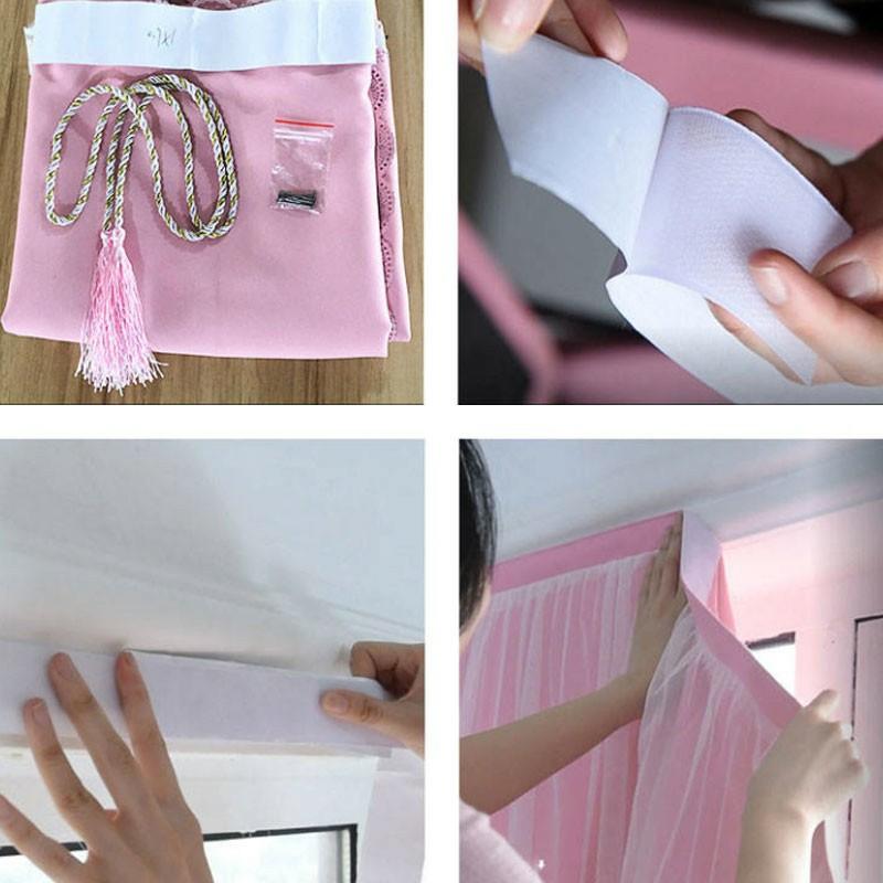 ▼▬ผ้าม่านประตู ผ้าม่านหน้าต่าง ผ้าม่านสำเร็จรูป ม่านเวลโครม่านทึบผ้าม่านกันฝุ่น ใช้ตีนตุ๊กแก รุ่น2S2