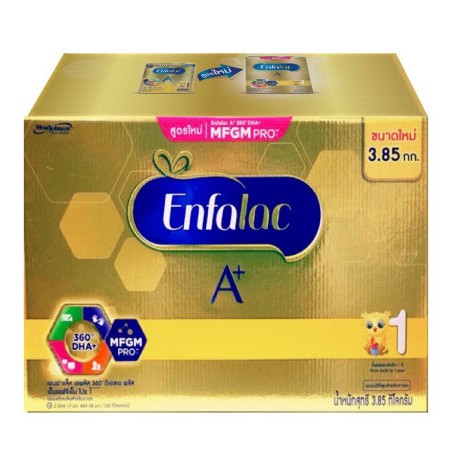 นมผง Enfalac A+ 360 DHA+ MFGM PRO สูตร 1 เอนฟาแลค เอพลัส สูตร 1 ขนาด 3.85 กิโลกรัม
