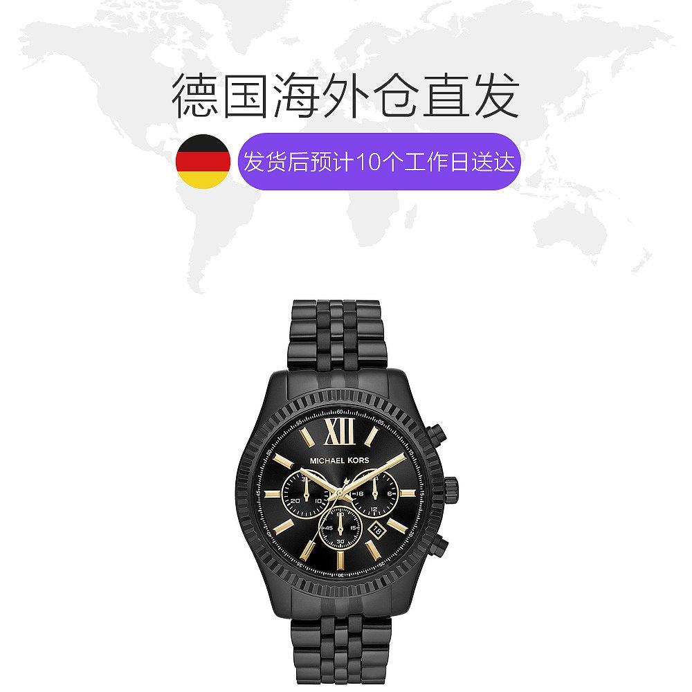ㇻ☦สายนาฬิกา smartwatchสายนาฬิกา gshockสายนาฬิกา applewatchยุโรปโดยตรงmail MKไมค์สูงผู้ชาย44มิลลิเมตรสีดำเหล็กสายนาฬิกากร