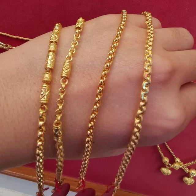 สร้อยมือทอง 96.5%  น้ำหนัก 1 สลึง ยาว 17cm ราคา 8,150บาท