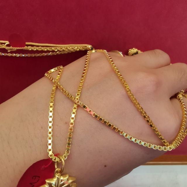  เลี่ยงฮะเฮง-รุ่งเจริญ สร้อยคอทอง 96.5%  น้ำหนัก 1 บาท ยาว 22.5cm ราคา  30,200บาท